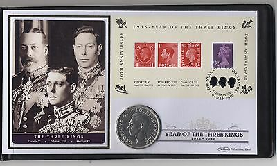 1936 Year Of The Three Kings 80th Anniversary Silver Crown Cover***Rare***