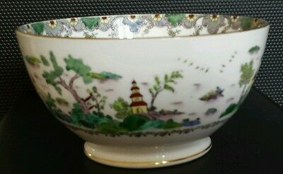 Very Rare Antique Crown Staffordshire porcelain china Chinese Willow bowl dish