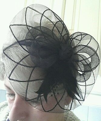 Fascinator Hat Black Headband Facinator Wedding black