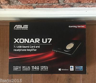 ASUS Xonar U7 Compact 7.1-channel USB soundcard & headphone amp BNIB RRP £88.95