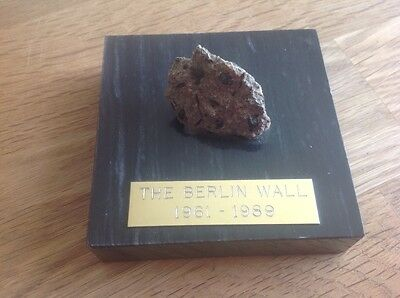 Unusual genuine piece of the Berlin Wall.