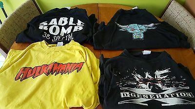 WWE WWF Retro Sable/The Rock/DX/Hulk Hogan T-Shirt Bundle