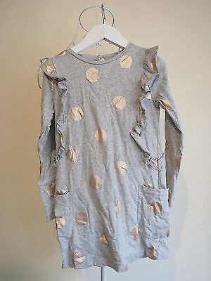 """""""Cotton on Kids"""" Size 6 Gorgeous Girls Grey Long Sleeve Dress with Spots. Great!"""