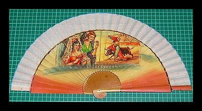 Superb 1950's Vintage Spanish Fan - Lacquered Wood