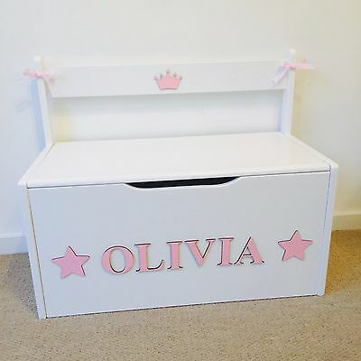 Wooden Personalised Children's Toy Box/Storage Girls Boys Box/chest NurseryGift
