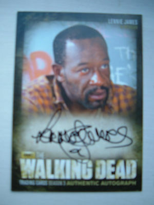 Walking Dead Lennie James Autograph card Morgan Season 3 A22
