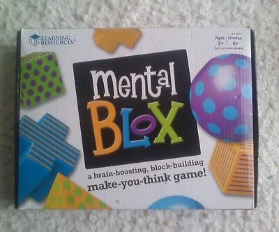 Mental Blox 3-D Puzzle Game Ages 5+ - Logic Maths Learning Game