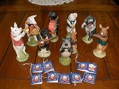 Beswick Pig Band - complete set of 9 Pig Promenade EXCELLENT COND.