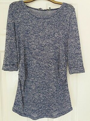 Blue New Look maternity jumper, size 8