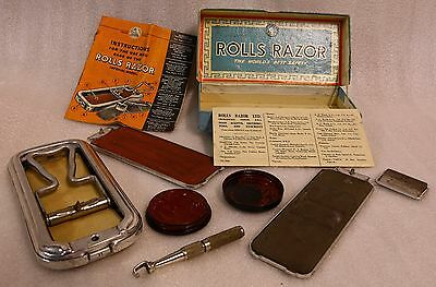 Vintage Rolls Razor With Box & Instructions Made in England Shaving Strop