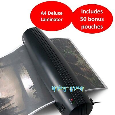 A3 Document Laminator Thermal Hot Laminating Machine Home Office Roller w Pouch