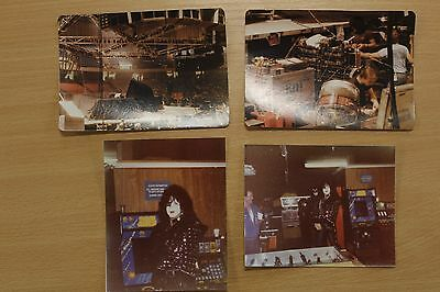 Kiss, Collection Of 4 Photographs,  1979, And Off Stage In A Bar.