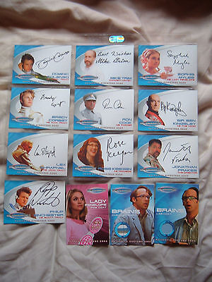 Thunderbirds all autograph and costume 13 cards Ben Kingsley Sophie Myles