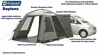 Outwell Daytona Drive Away Awning - 2017 Model - 180cm-220cm fixing height