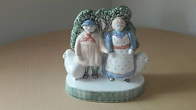 Rye pottery shepherd with wife and sheep perfect condition