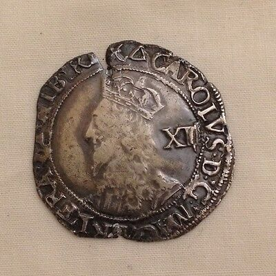 King charles i shilling silver hammered coin metal detecting find 1st