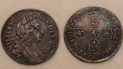 King William  iii sixpence early milled silver coin metal detecting find 3rd