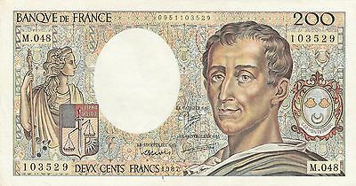 Billet français 200 F France Montesquieu 1987 M048