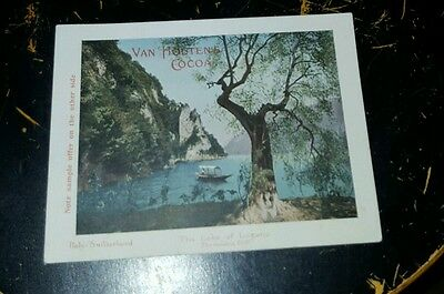 Vintage Trade Card Van Houten's Cocoa - Lake Of Lugano --- Free Shipping