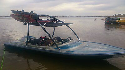 Hallett Bubbledeck Ski Boat and Boss Tandem Trailer