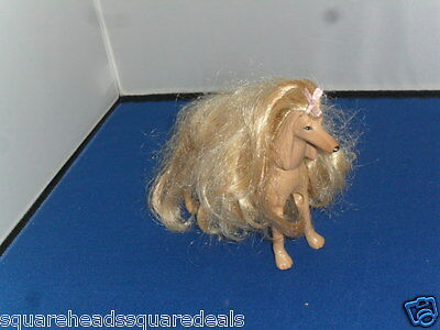 """Barbie  Afghan Hound Dog, now retired approx 7"""" in size"""