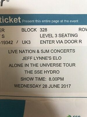 ELO / Jeff Lynne Concert Tickets SSE Glasgow