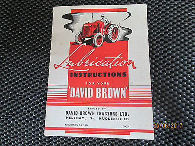 DAVID BROWN - Lubrication Instructions