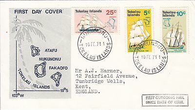Tokelau: Ships, First Outgoing Mail since Date of Issue, 10 February 1971
