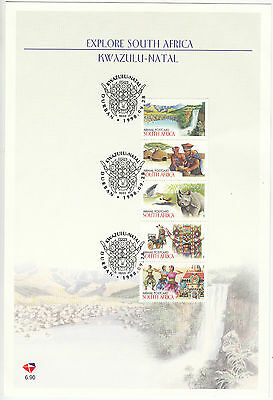 South Africa: Tourism: Explore South Africa, Kwa-Zulu Natal stamp card, 1998