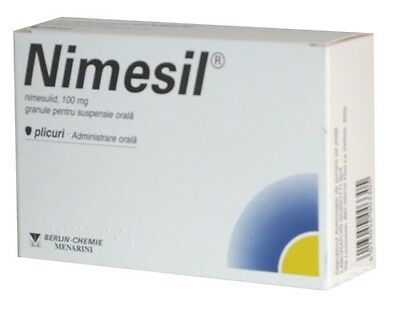 NIMESIL 10 sachets for oral suspension 2g Pain relief, Antipyretic