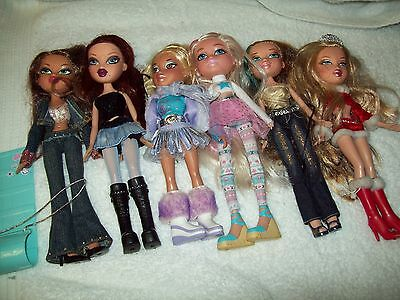Bratz Dolls Bulk Lot With Heaps Of Clothes And Shoes