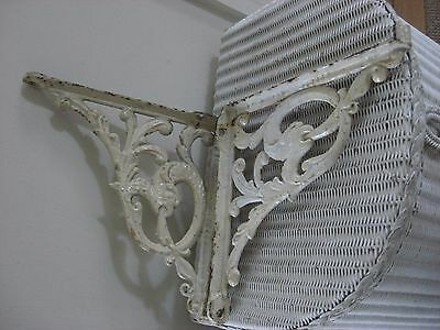 Pair Of Antique Cast Iron Shelf Or Cistern Brackets