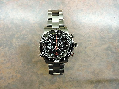 Bulova Precisionist Chronograph Black Dial Stainless Steel Men's Watch 98B212