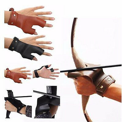 Fashion Leather Arrow Two Finger Bow Shooting Archery Protective Handmade Glove