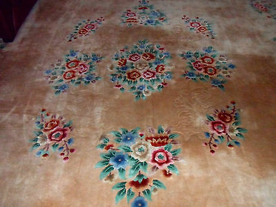 Large Oriental Chinese handmade carpet rug size 19 ft x 10 ft