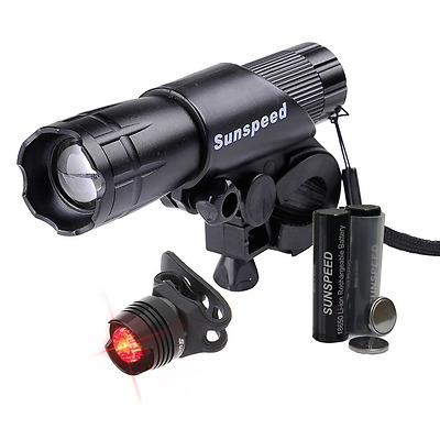 Sunspeed LED Linterna Regarcable para Bicicleta Ciclismo Seguridad Impermeable