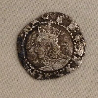 Queen Elizabeth I penny silver hammered coin metal detecting find Detector 1st