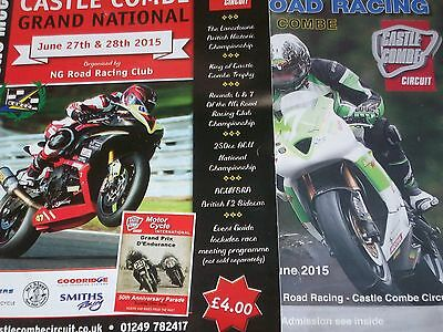 Programme Castle Combe Grand National Motorcycle Race Meeting 27/28 June 2015
