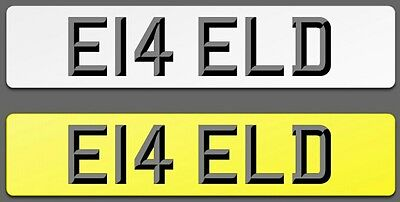 ELD E14 ELD - Private Cherished Registration # 6 Digit ELD Number #