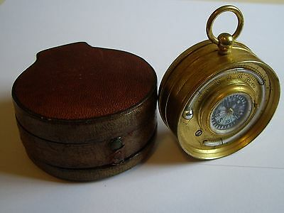 E.g.wood Double Sided Pocket Barometer Altimeter Thermometer Compass Compendium