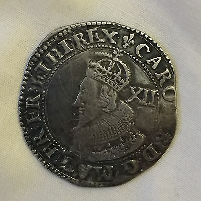 King Charles i shilling silver hammered  1st coin