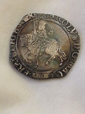 King charles 1st halfcrown silver hammered coin I half crown