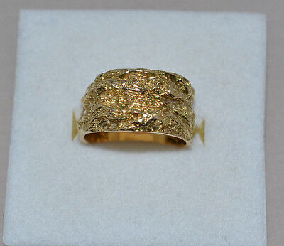 Heavy Solid 18Ct Gold Mens Ring Size 0 10.33 Grams