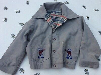 Fantastic Vintage Jacket Coat 1 - 2 years Bear motif