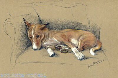 Vintage Art~L.Dawson~Basenji Puppy Dog Dogs Laying on Couch~ NEW Lge Note Cards