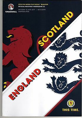 SCOTLAND v ENGLAND 10th JUNE 100% OFFICAL WORLD CUP PROGRAMME