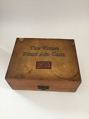 Vintage First Aid Wooden Case/Box Boots The Chemist