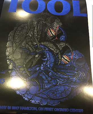 TOOL 2017 TOUR POSTER LIMITED NUMBERED EMBOSSED HAMILTON ONTARIO puscifer