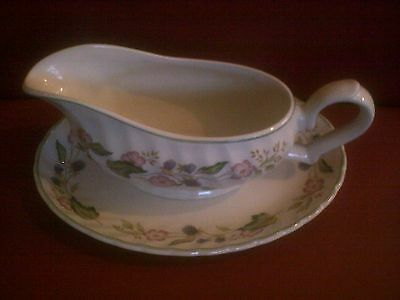 Bhs Victorian Rose - Gravy Boat With Stand - (G1367)