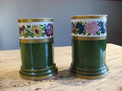 2 Hand Painted Antique Austrian Vases
